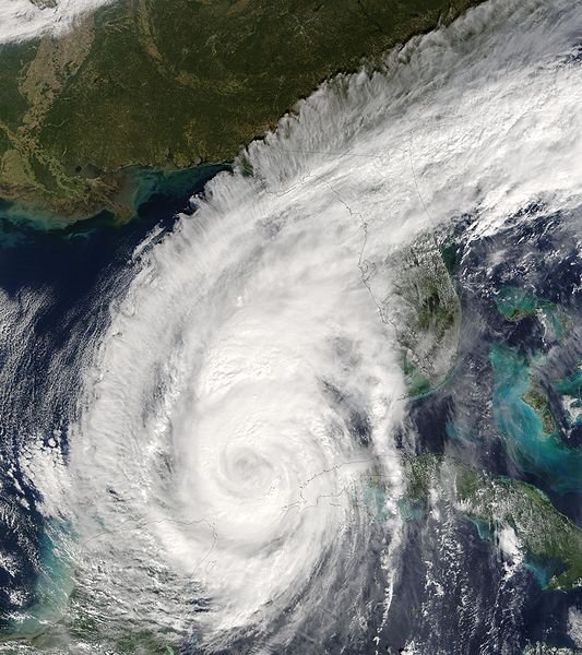Satellite image of Hurricane Wilma